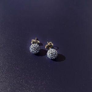 Touchstone Ball Earrings in Blue